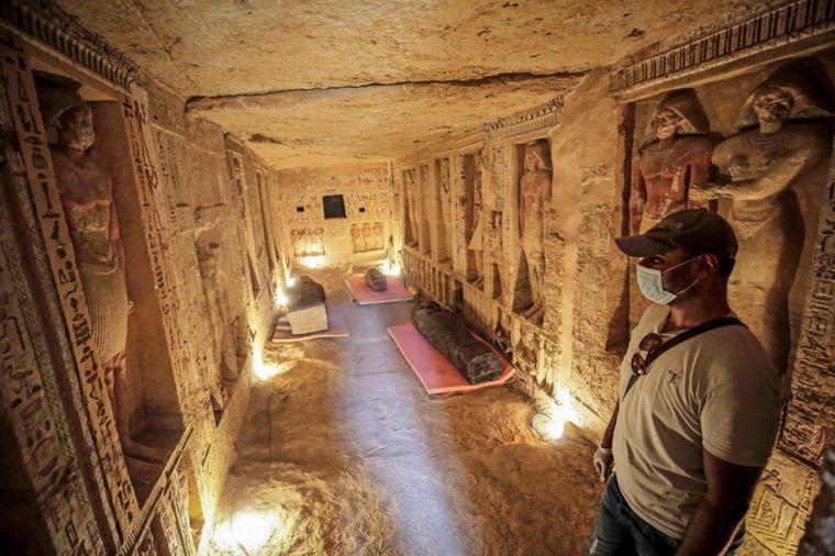 FOTO: Egipto presentó un centenar de sarcófagos de más de 2000 años