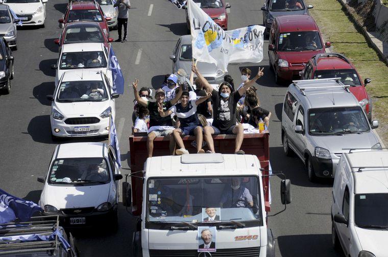 FOTO: El jefe de Estado dirigió un mensaje a los que se movilizaron.