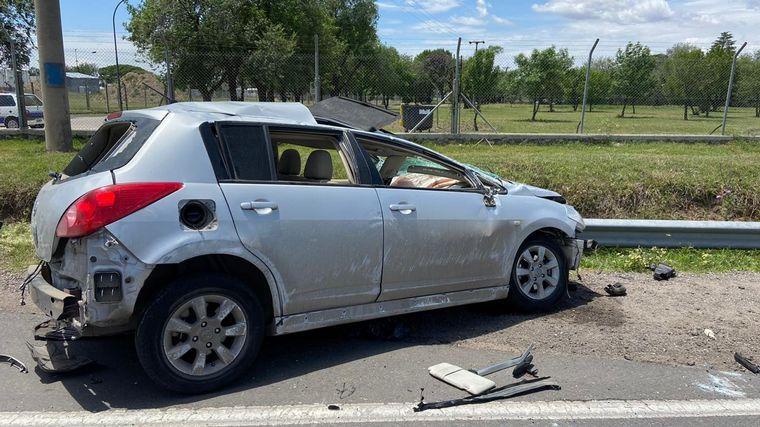 FOTO: Accidente de tránsito durante una persecución policial en Córdoba