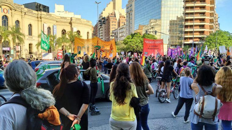 FOTO: Manifestación a favor del aborto legal en Córdoba.
