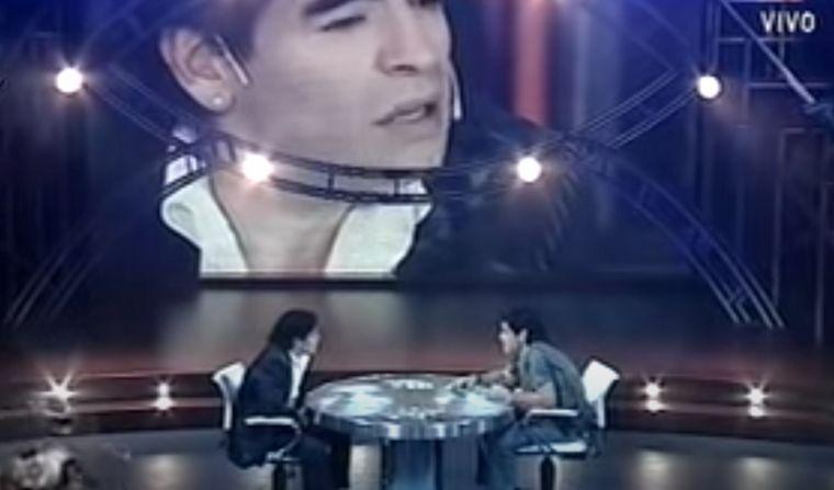 FOTO: El día que Maradona entrevistó a Diego.