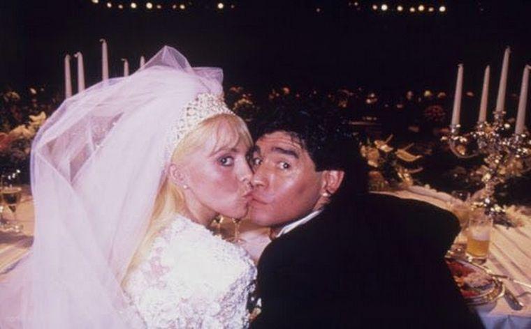 FOTO: Diego y Claudia se casaron en 1989 en el estadio Luna Park.