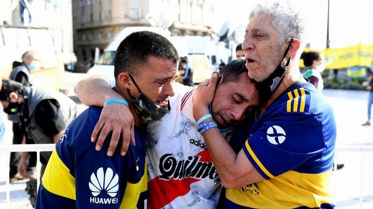 AUDIO: Una multitud despide a Diego Maradona en Casa Rosada