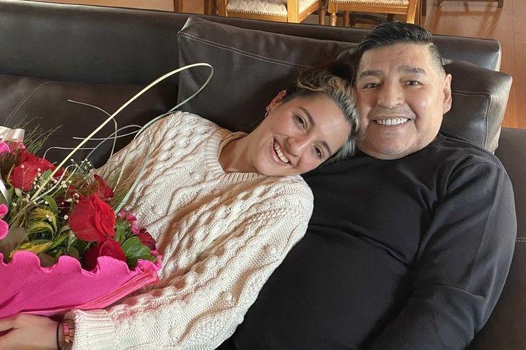 FOTO: Jana y Diego Armando Maradona.