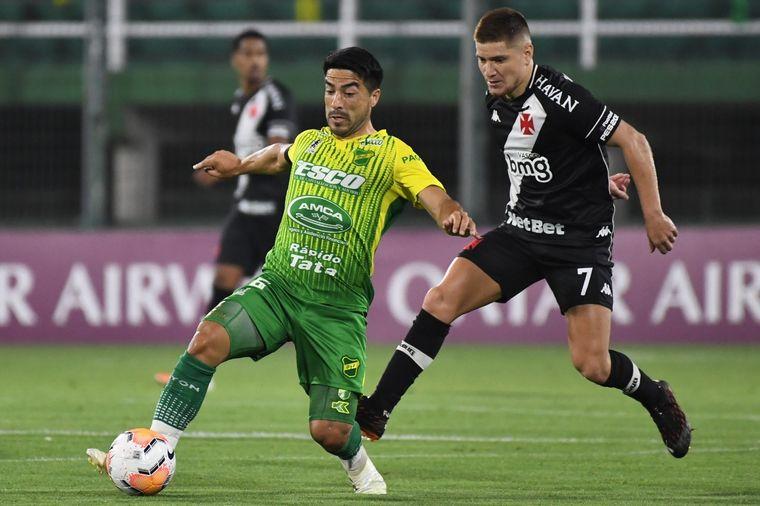 FOTO: Defensa no pudo contra el Vasco de Gama por Copa Sudamericana.