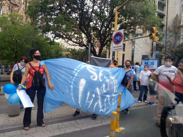 FOTO: Marcha contra el aborto en Córdoba.