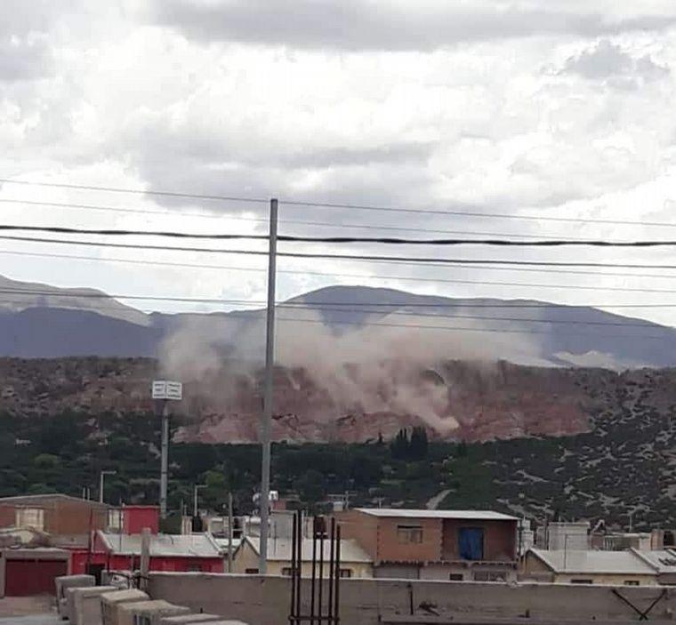 FOTO: Temblor en Salta produjo derrumbes en Humahuaca