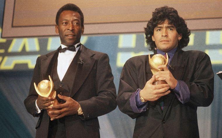 Pelé despidió a Maradona: