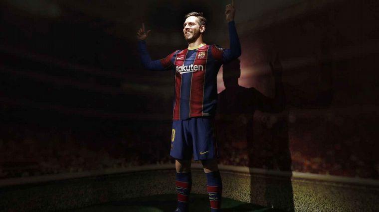 FOTO: La curiosa réplica de cera de Lionel Messi.