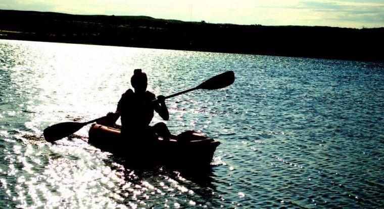 FOTO: Garzas, en el lago Las Lajas de Achiras.