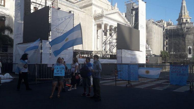 FOTO: Vigilia de pañuelos verdes en Buenos Aires.