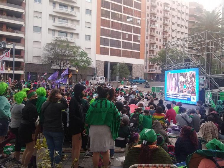 FOTO: Festejo por la media sanción del aborto en Córdoba