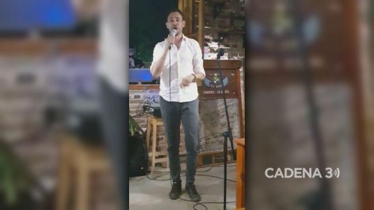 VIDEO: Raúl Monti cantó en vivo su canción