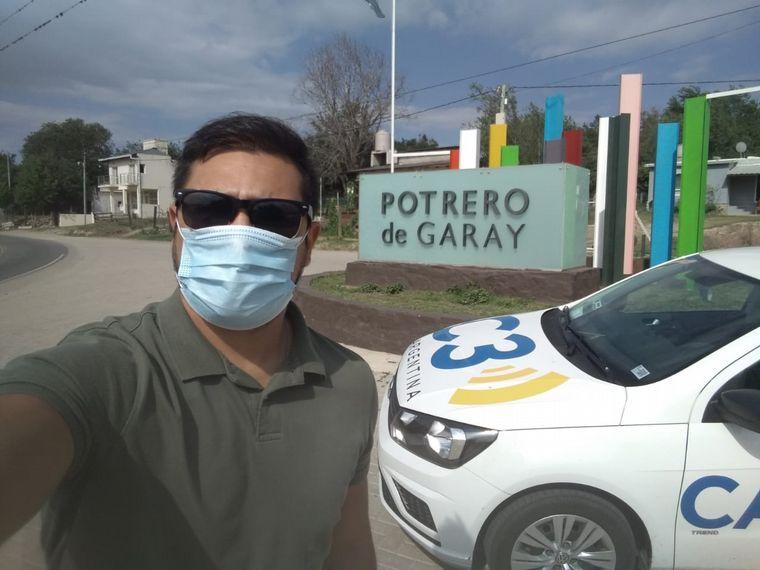 FOTO: Fer Barrionuevo, en Potrero de Garay.