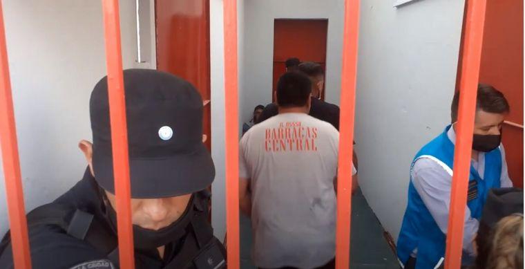 FOTO: Imagen de los incidentes en la cancha de Barracas Central.