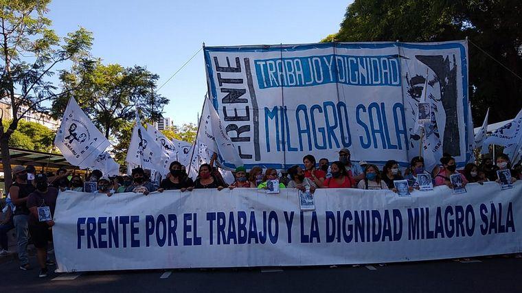 FOTO: Agrupaciones K reclaman la liberación de