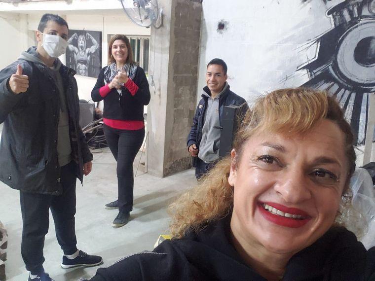 FOTO: Locomotora Oliveras abrió su gimnasio en Santa Fe.
