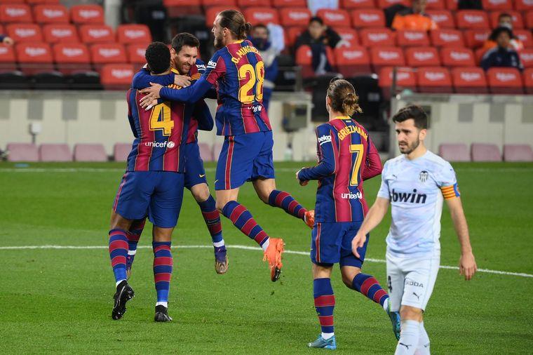 "FOTO: Messi marcó el gol número 643 con la camiseta ""blaugrana""."
