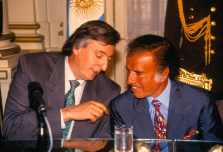 FOTO: Duhalde y Menem, una sociedad política que marcó los años '90.