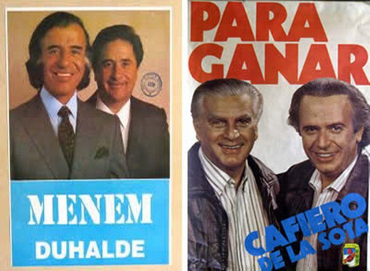 FOTO: Menem le traspasa la presidencia a Fernando de la Rúa.