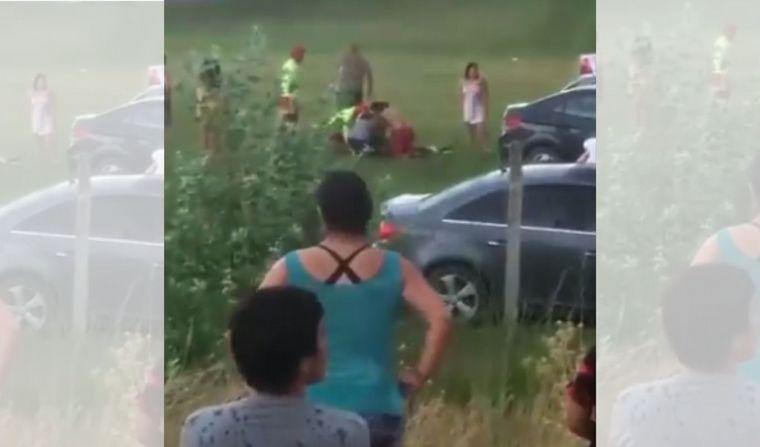 FOTO: Un rayo cayó en un camping de Plottier y mató a una niña