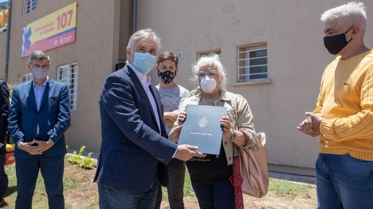 FOTO: El intendente recordó a los empleados fallecidos.