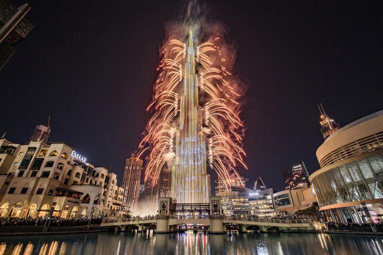 FOTO: El Año Nuevo se celebró en Rusia con un impactante show de fuegos artificiales.