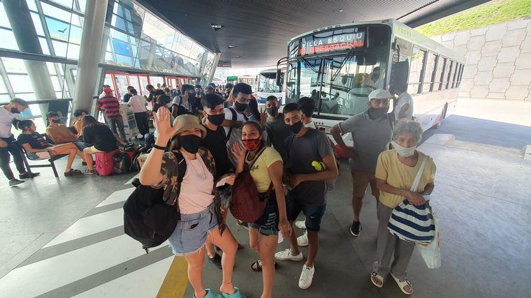 FOTO: Intenso movimiento en la Terminal.