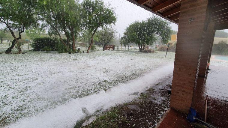 AUDIO: Temporal de lluvia y granizo en Santa María y Traslasierra