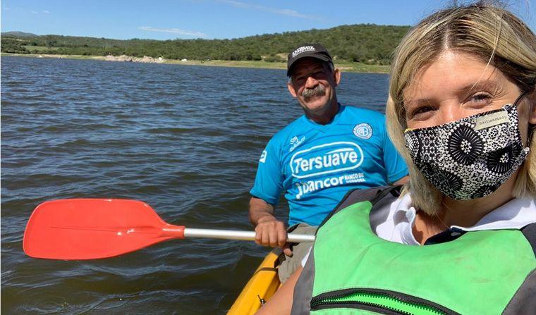 AUDIO: Mica Rodríguez paseó en kayak en el dique