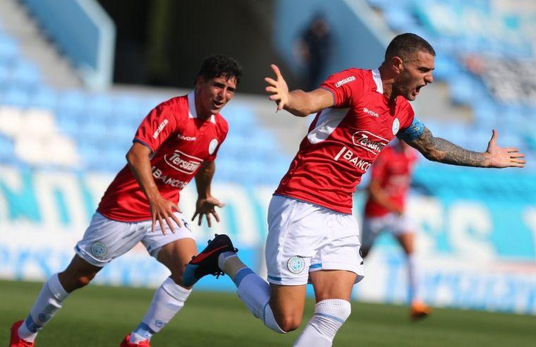 FOTO: Pablo Vegetti abrió el marcador para Belgrano ante Alvarado (Foto: Belgrano)