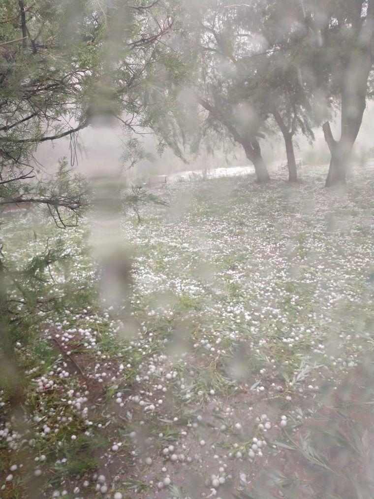 FOTO: Feroz temporal en San Rafael.