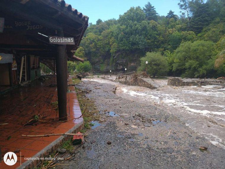 FOTO: Feroz temporal en el Valle de Punilla