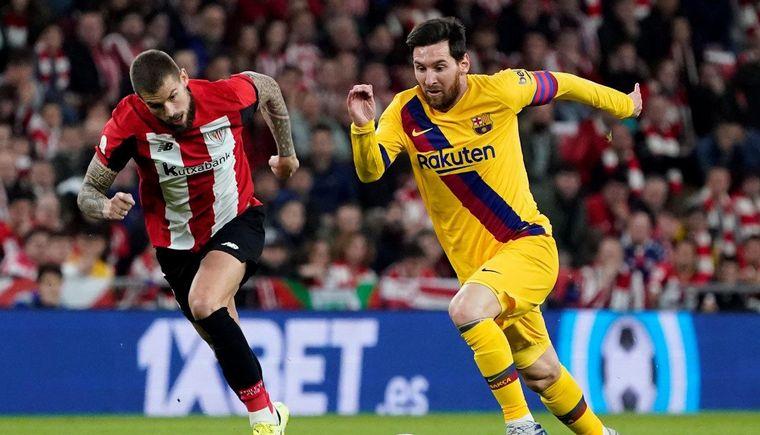 FOTO: Messi fue expulsado y el Barça perdió ante Athletic Bilbao (Foto: Invicto Somos)