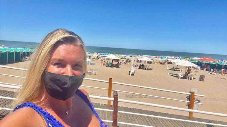 FOTO: Celeste Benecchi en el parador Cozumel en Cariló