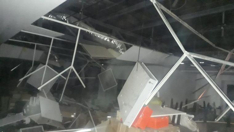 FOTO: El terremoto generó algunos daños en un supermercado sanjuanino.