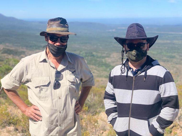 FOTO: Matías Arrieta en la reserva ecológica Kuntur Huaca en Mina Clavero
