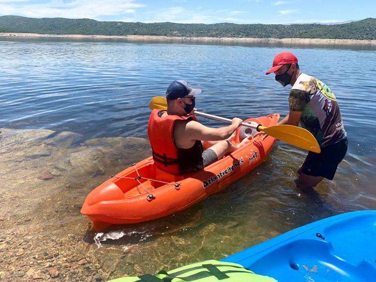 AUDIO: Una tarde a puro kayak en el dique La Viña