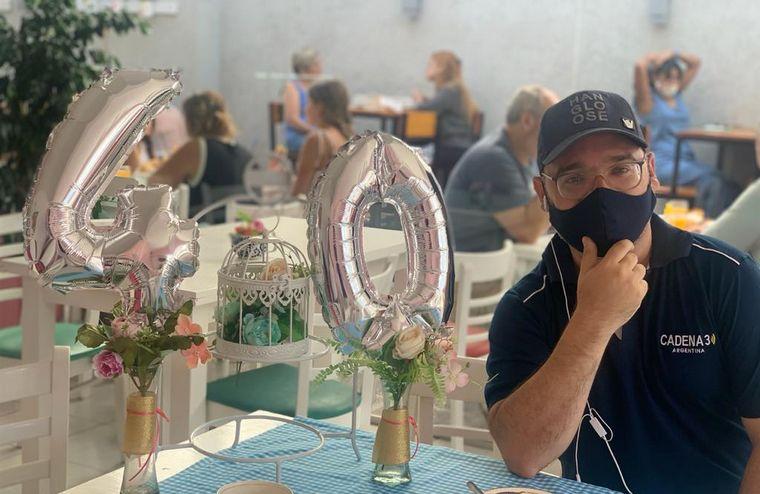 AUDIO: Matías Arrieta celebró sus 40 con las tortas de Sabores del Arroyo
