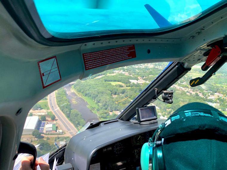 FOTO: Cambio de perspectiva: recorrer las Sierras Chicas en helicóptero