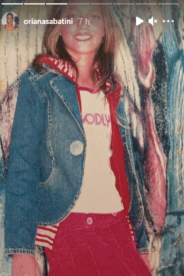 FOTO: Oriana Sabatini mostró sus fotos de modelo adolescente