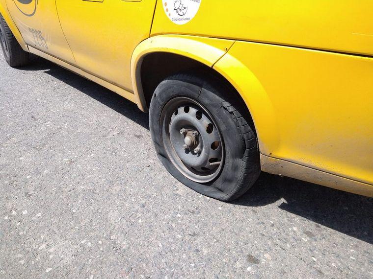 FOTO: Detuvieron a un ladrón que se había robado un taxi