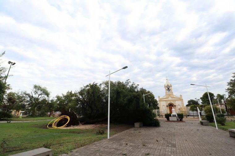 AUDIO: En Justiniano Posse también se presentó un fuerte temporal