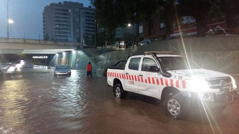 FOTO: La fuerte tormenta generó complicaciones en Córdoba.