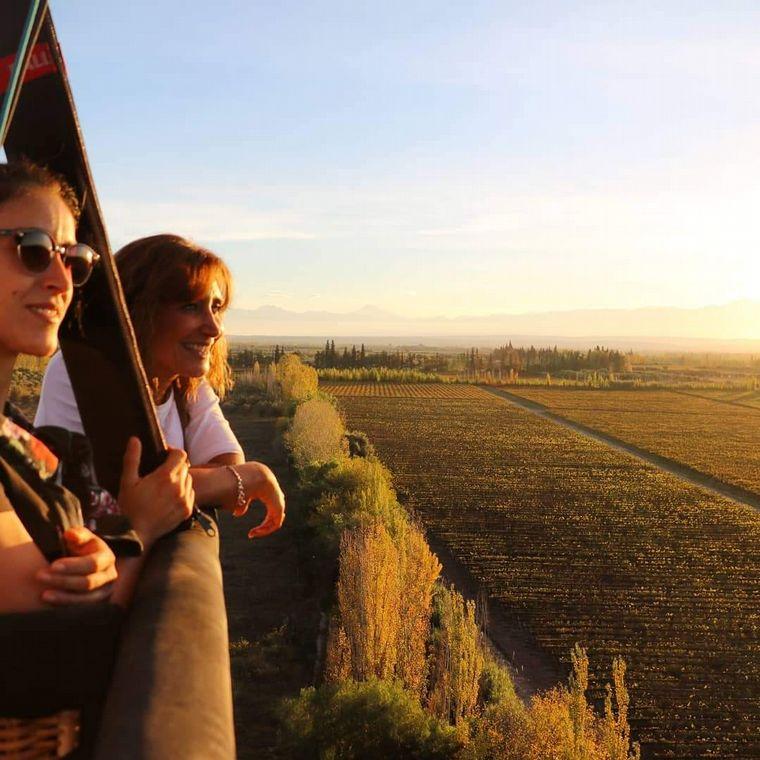 FOTO: Viaje en globo en Mendoza, una experiencia inigualable