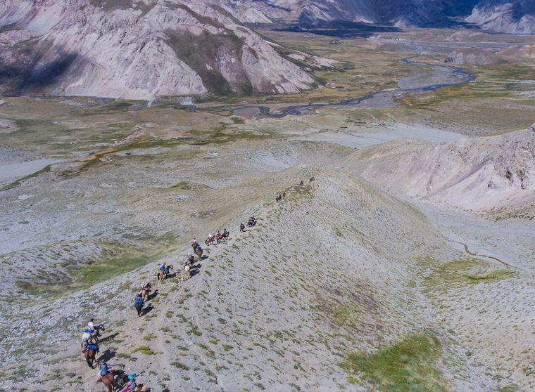FOTO: Cruce de los Andes, recreación de una travesía histórica
