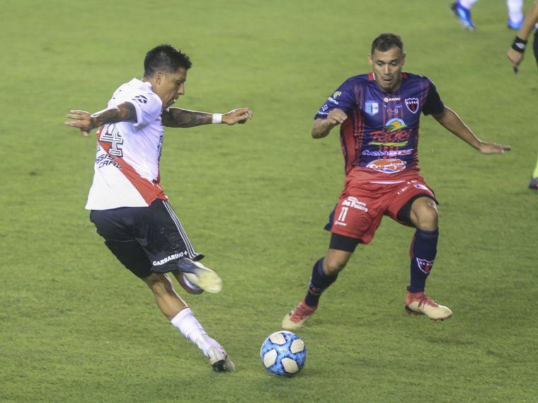 FOTO: Suárez abrió el marcador para River ante el Depro.
