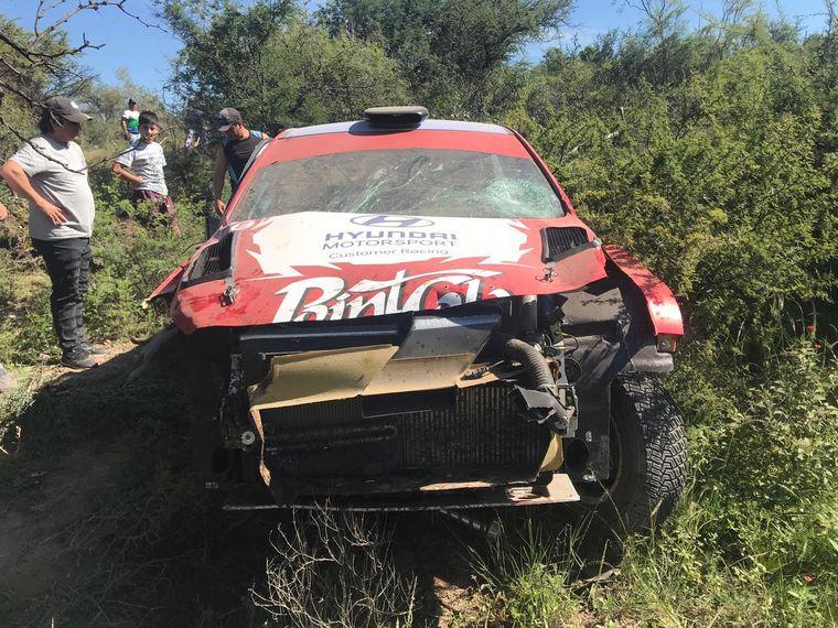 AUDIO: Espectacular accidente en el Rally de Cruz del Eje