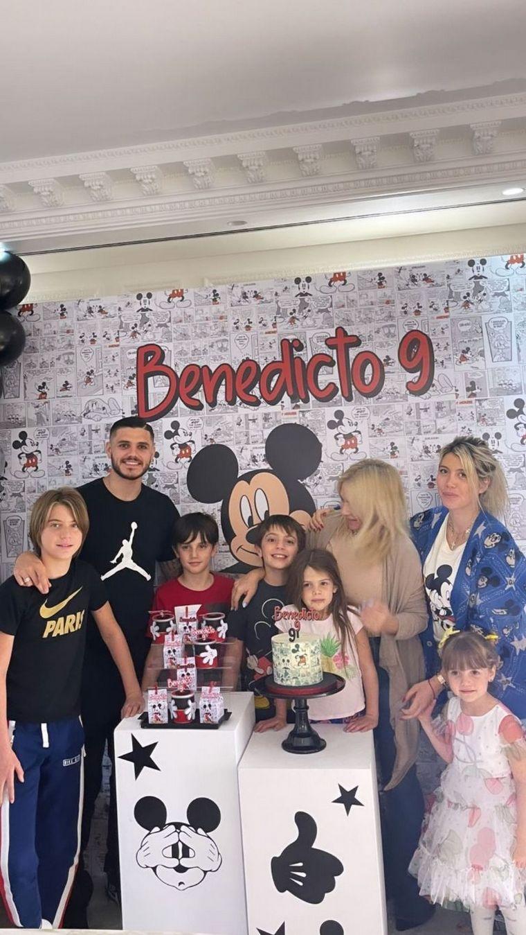 FOTO: Benedicto, de nueve años, es fruto de su pareja con Maxi López.