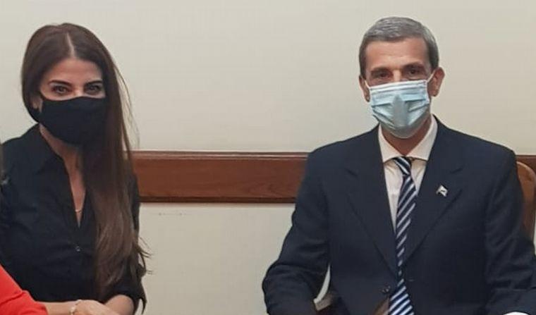 FOTO: Zulemita participa de la asunción de Ricardo Guerra de la banca que ocupaba Menem